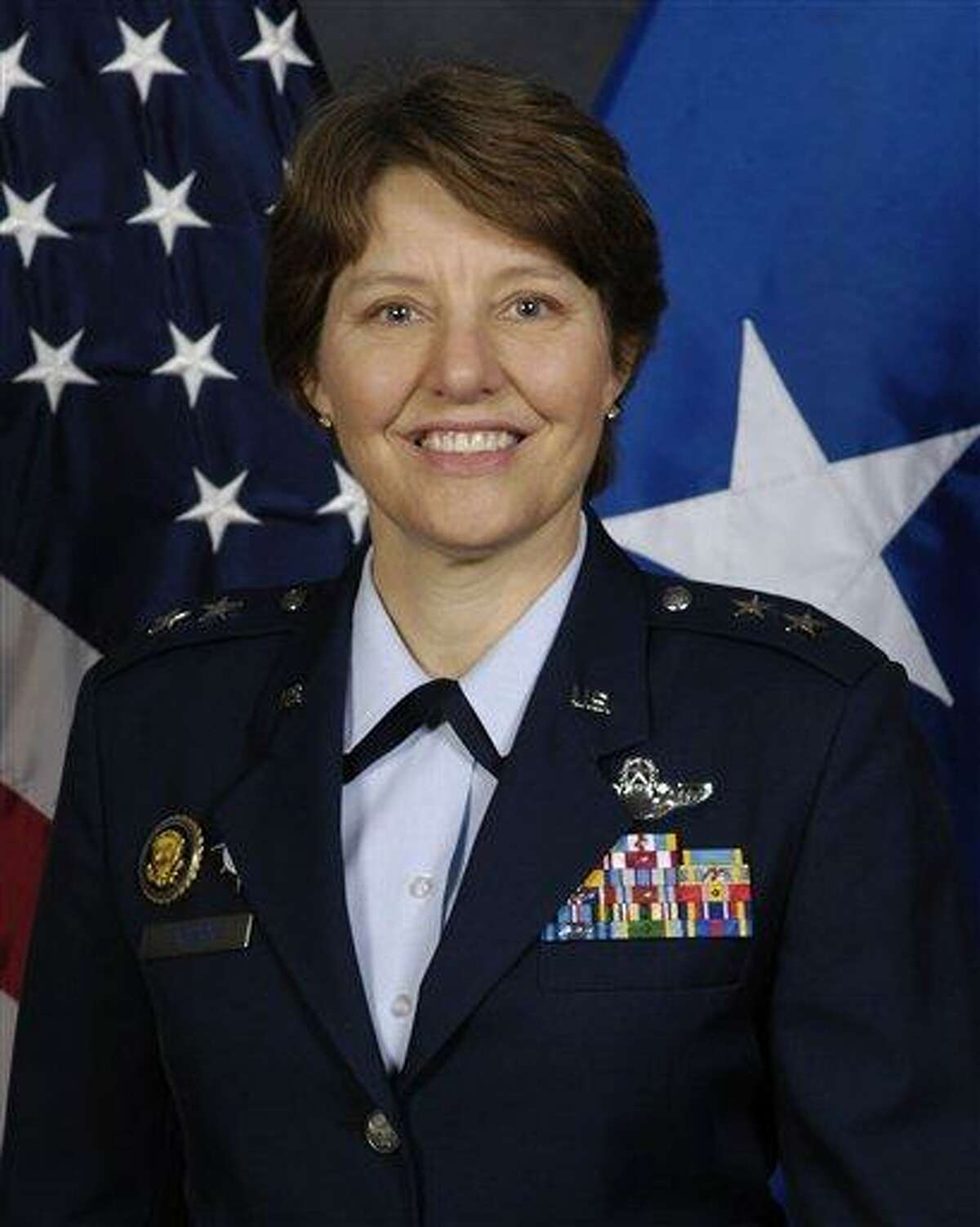 """This undated image provided by the U.S. Air Force shows Maj. Gen. Michelle D. Johnson. Johnson's appointment to become the first woman to command the Air Force Academy marks another breach of the """"brass ceiling"""" that keeps women from top assignments in the military an advocacy group said Monday March 3, 2013. Johnson is believed to be the second woman appointed to command a service academy, after Coast Guard Rear Adm. Sandra Stosz at the Coast Guard Academy. (AP Photo/U.S. Air Force)"""