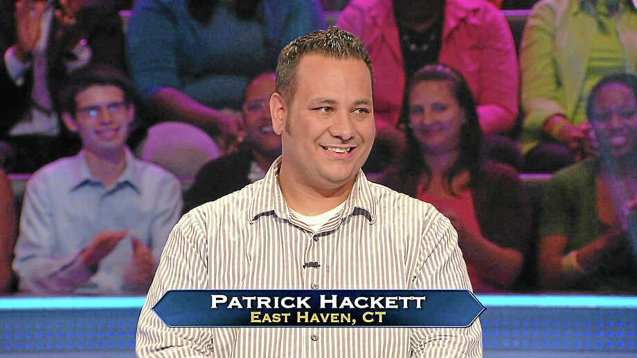 """Patrick Hackett on """"Who Wants To Be a Millionaire."""" Photo: Journal Register Co."""