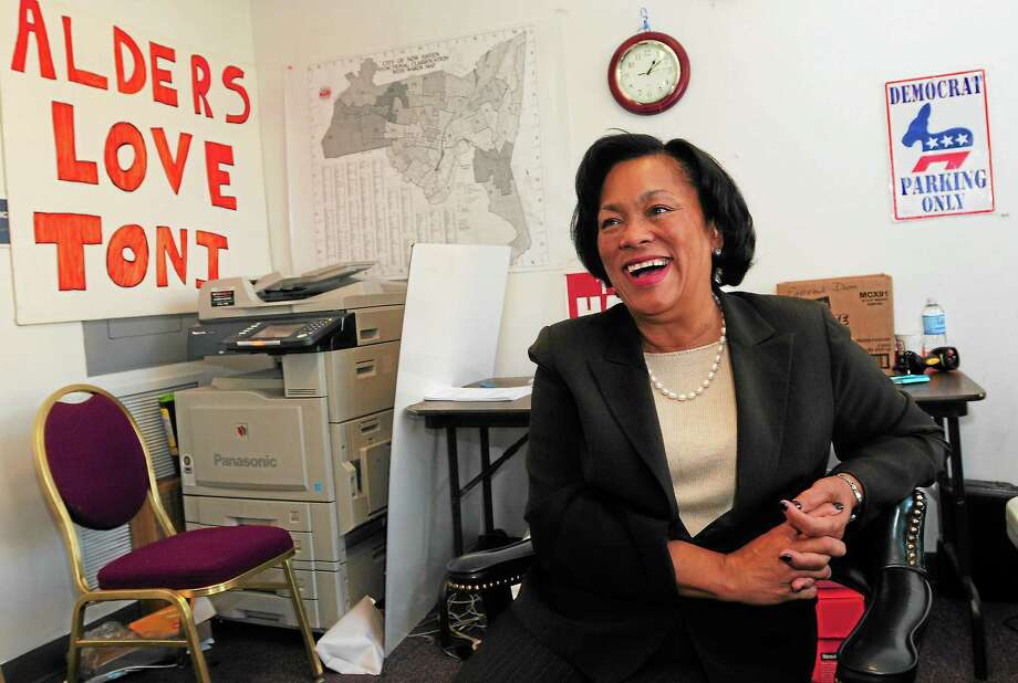 New Haven Mayor-elect Toni Harp is seen at her campaign headquarters Wednesday. Photo: Peter Hvizdak — New Haven Register         / ©Peter Hvizdak /  New Haven Register