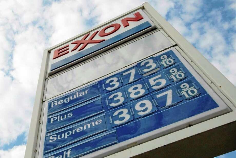 Gas prices are shown at a Pittsburgh Exxon mini-mart. Photo: Gene J. Puskar — The Associated Press File Photo   / AP