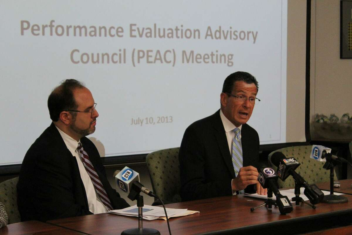 Gov. Dannel P. Malloy announces the state plans to seek flexibility for rollout of education reforms. CTMirror.org photo