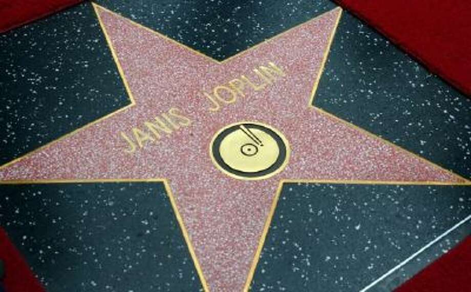 The Janis Joplin 'Star' is unveiled during a posthumous Hollywood Star ceremony on Nov. 4, 2013 in Hollywood, Calif.