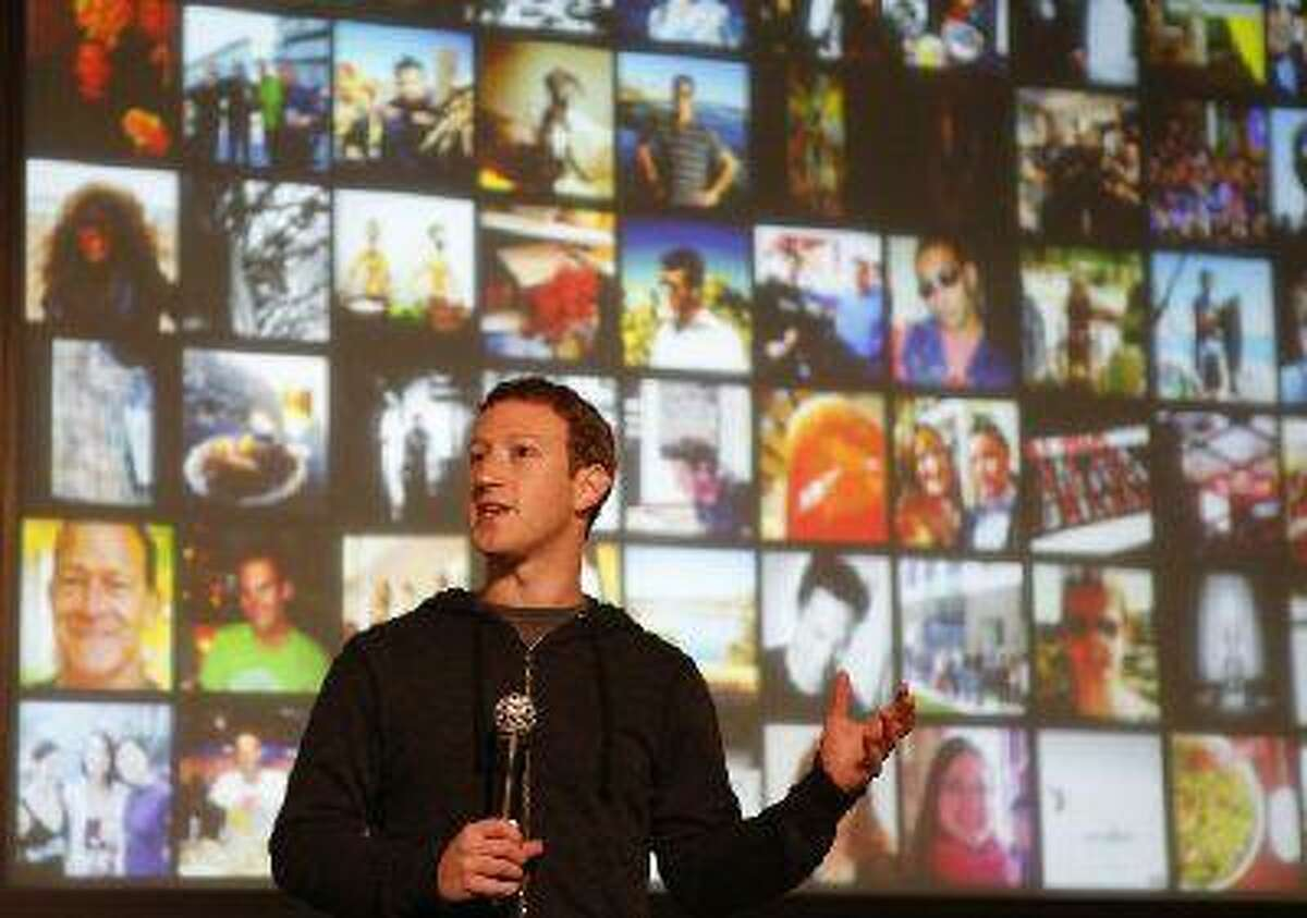 Mark Zuckerberg announces Graph Search during a press conference at Facebook in Menlo Park, Calif., on Tuesday, Jan. 15, 2013. (John Green/Mercury News)