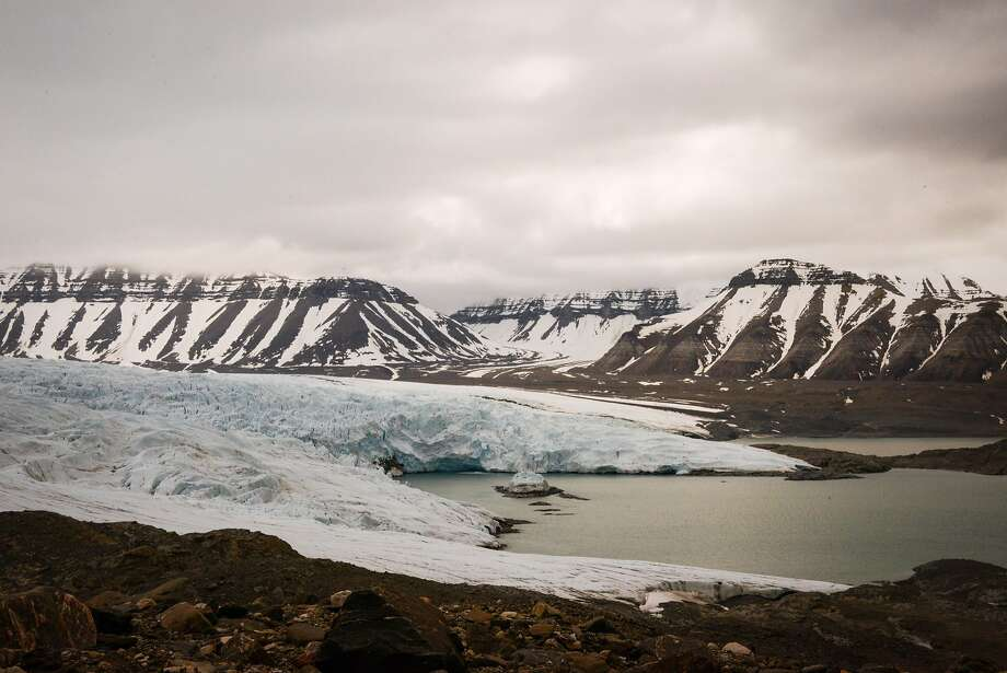 The Nordenskišld Glacier sweeps up from Billefjorden in the southwest of Svalbard. Photo: Jill K. Robinson, Special To The Chronicle