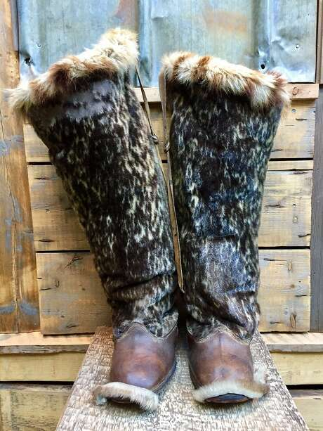 Sealskin boots in the Basecamp Explorer Hotel. Photo: Jill K. Robinson, Special To The Chronicle