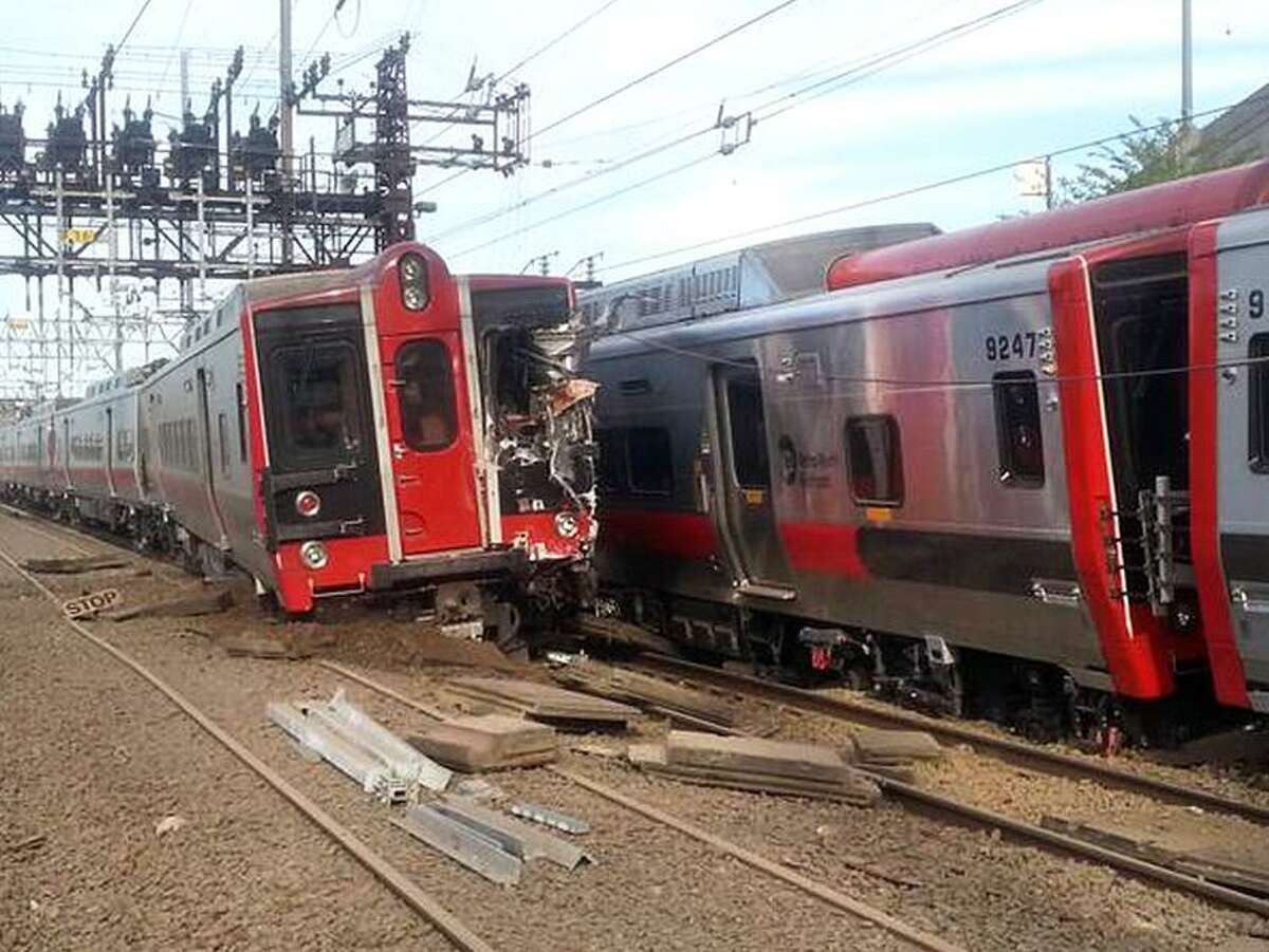 Metro North train accident near Commerce Ave in Fairfield CT May 17, 2013. Photo by Rob Oliver/special to the Register