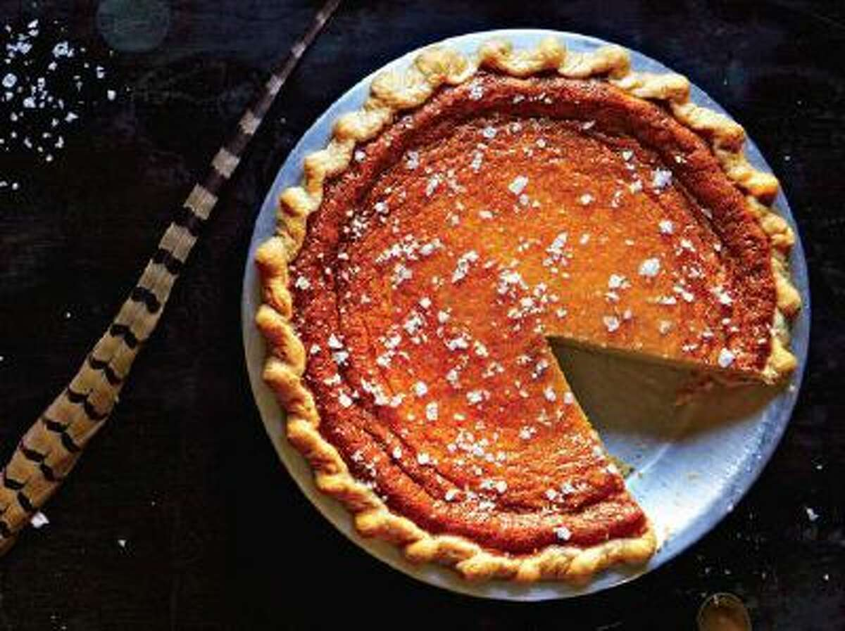 This Salty Honey Pie is a cult favorite at Brooklyn's Four Twenty Blackbirds pie shop.