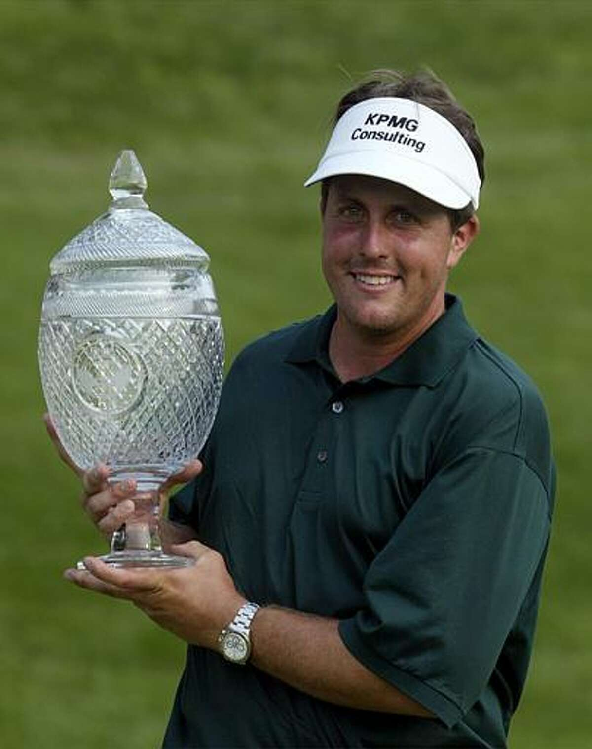 Phil Mickelson hasn't been to Cromwell since 2003 but he hasn't ruled out a return, thanks to the persistence of tournament director Nathan Grube and the organizers of the Travelers Championship. (AP)