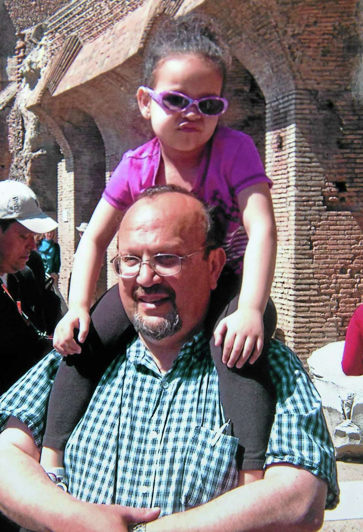 Arnold Giammarco and his daughter, Blair, in a photo taken in Italy.