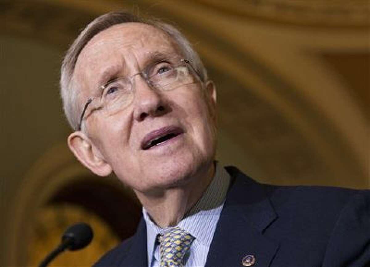 Senate Majority Leader Harry Reid, D-Nev. speaks on Capitol Hill in Washington in this Oct. 29 file photo.