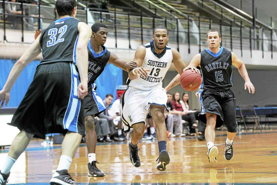 Senior Greg Langston (13) will be one of the leaders of the Southern Connecticut State men's basketball team. Photo: CONTRIBUTED PHOTO