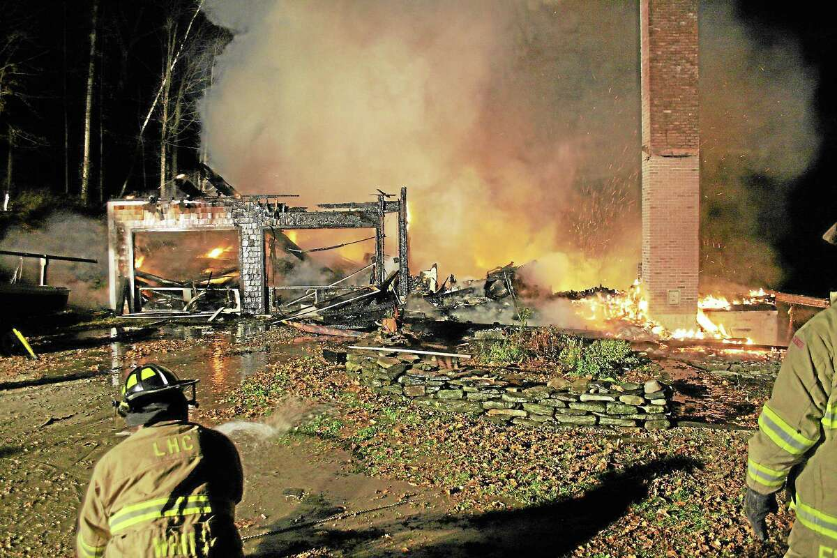 The scene of an early morning fire that left one dead and destroyed a two-story home in Salisbury on Monday, Oct. 28.