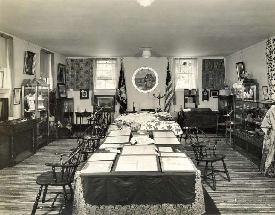When the Greenwich Historical Society was founded in 1931, its first home was the Perrott Memorial Library in Old Greenwich, seen here. Photo courtesy of the Greenwich Historical Society. Photo: Contributed Photo / Greenwich Time Contributed