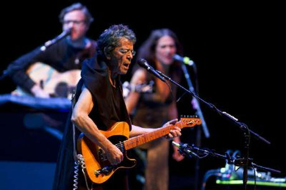 US singer Lou Reed performs on stage at the Heineken Music Hall in Amsterdam, on June 14, 2012. Photo: AFP/Getty Images / 2012 AFP