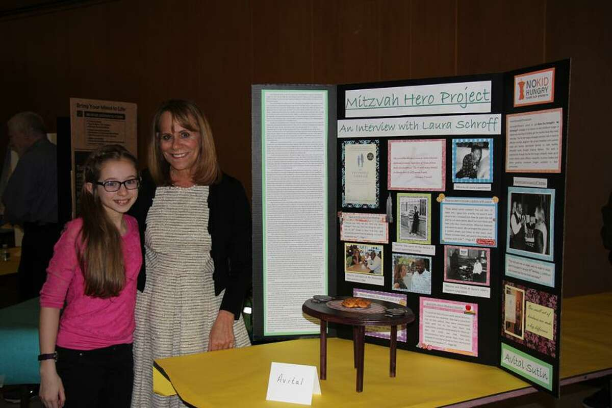 """Contributed photo: Ezra Academy student Avital Sutin, left, chose author Laura Schroff as her """"Mitzvah Hero"""" for a school project. Tuesday her hero will visit the school."""