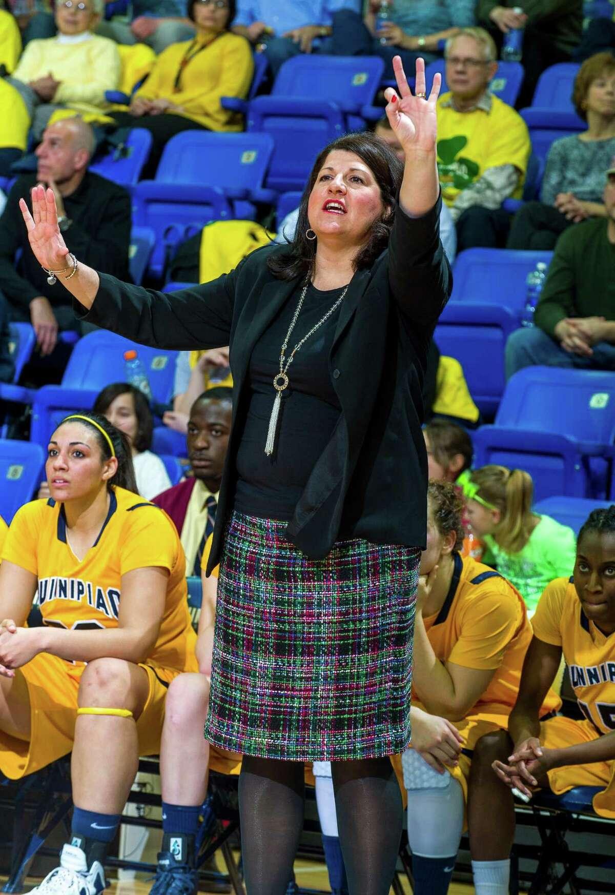 Quinnipiac women's basketball coach Tricia Fabbri. Courtesy photo of Quinnipiac