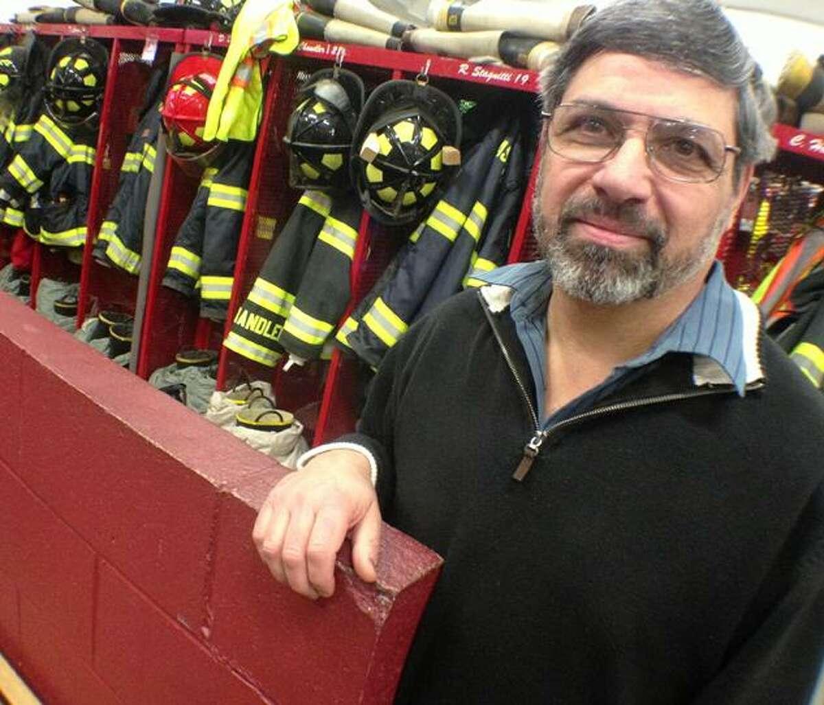 Dispatch Staff Photo by JOHN HAEGER (Twitter: @OneidaPhoto) Tony Palamara of the Canastota Fire Department.