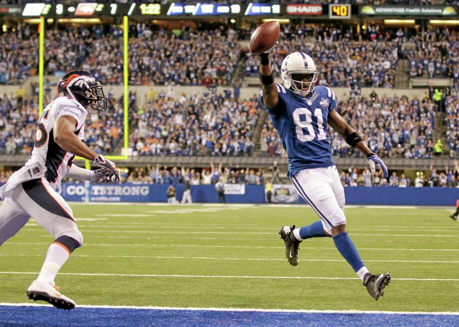 Wide receiver Darrius Heyward-Bey and the Indianapolis Colts have beat enough top teams that, despite being only 5-2, the Register's Mike Wollschlager believes they deserve to be the No. 1 team in the Week 8 Register NFL Rankings. Photo: AJ Mast — The Associated Press   / FR123854 AP