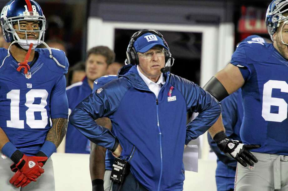 Tom Coughlin and the Giants will look to keep the Eagles winless at home this week. Photo: Peter Morgan — The Associated Press   / AP