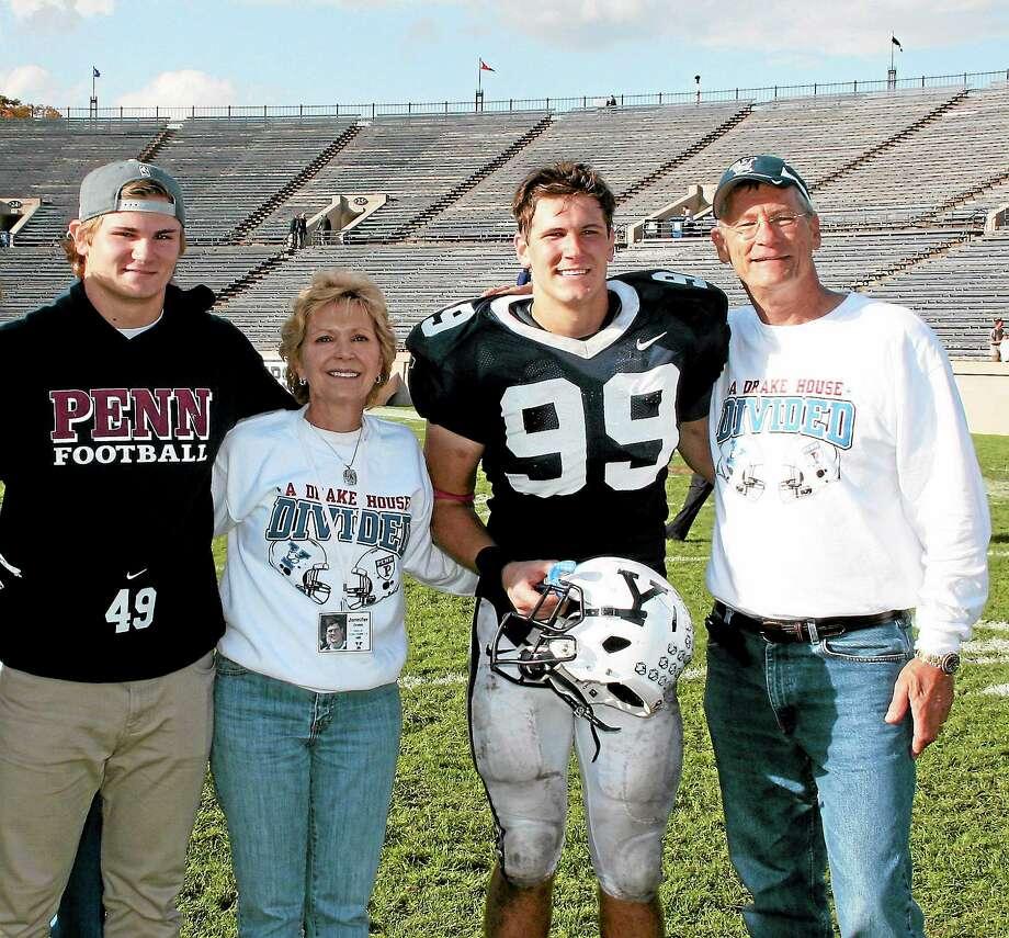 From left, Tyler Drake, Jennifer Drake, Dylan Drake and Gary Drake. Photo: Submitted Photo