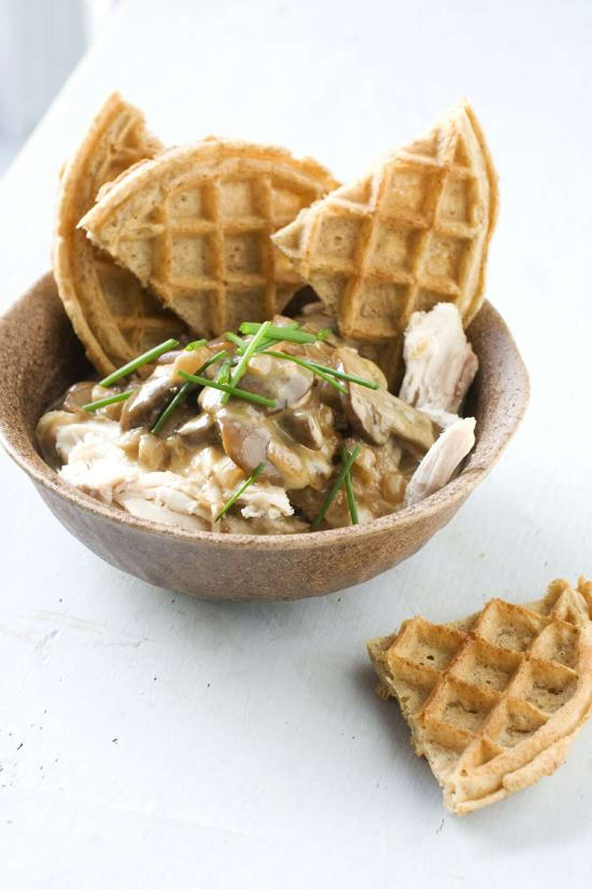 Matthew Mead/Associated Press photo: Rotisserie Chicken With Waffles and Gravy