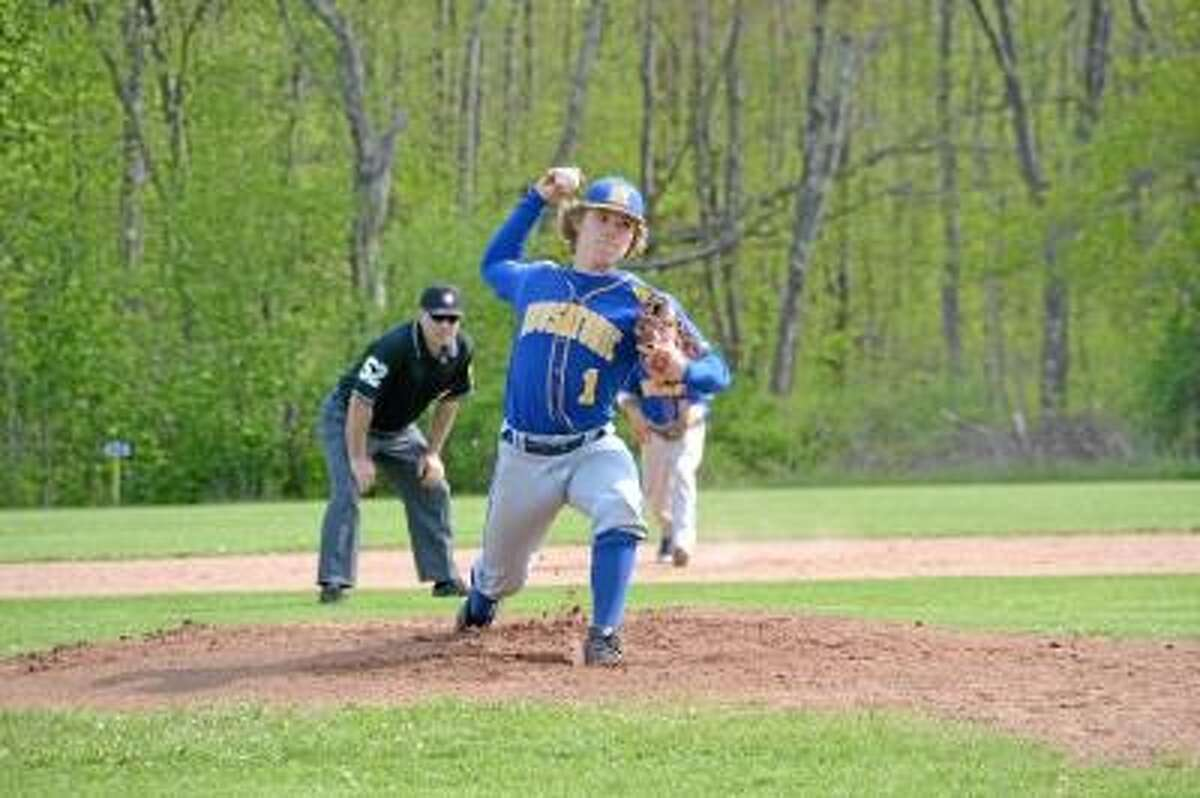 Housatonic's Willy Yahn threw a complete game and struck out six Cowboys in their 7-4 win. Photo by Pete Paguaga/Register Citizen