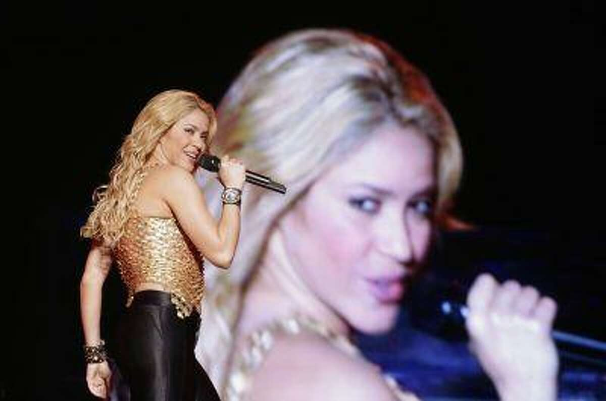 Colombian pop star Shakira performs during her concert in Caracas, March 27, 2011. Shakira is currently on her The Sun Comes Out World Tour.