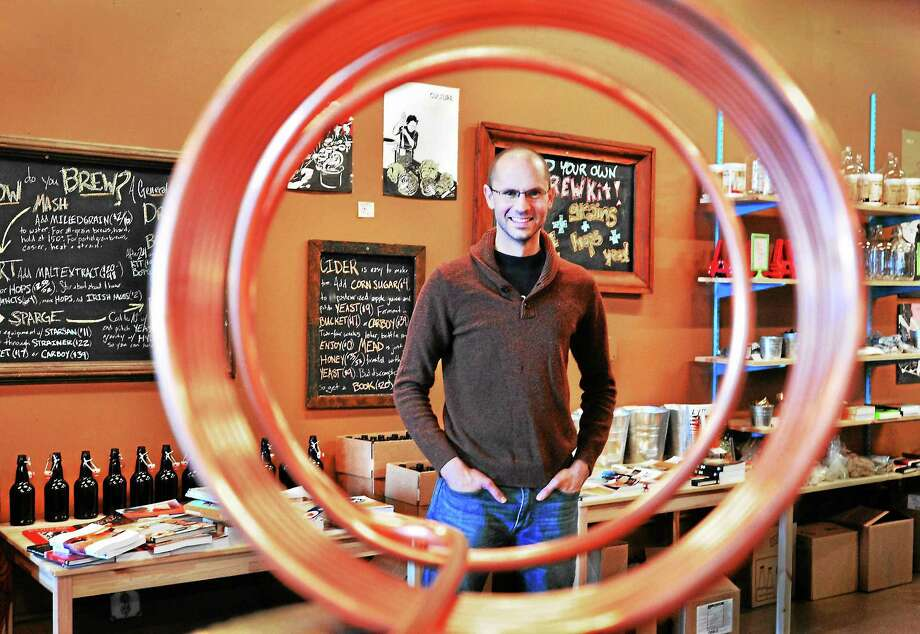 (Melanie Stengel — New Haven Register)   Scott Vignolia of the Luck and Levity Brewshop in New Haven. Photo: Journal Register Co.