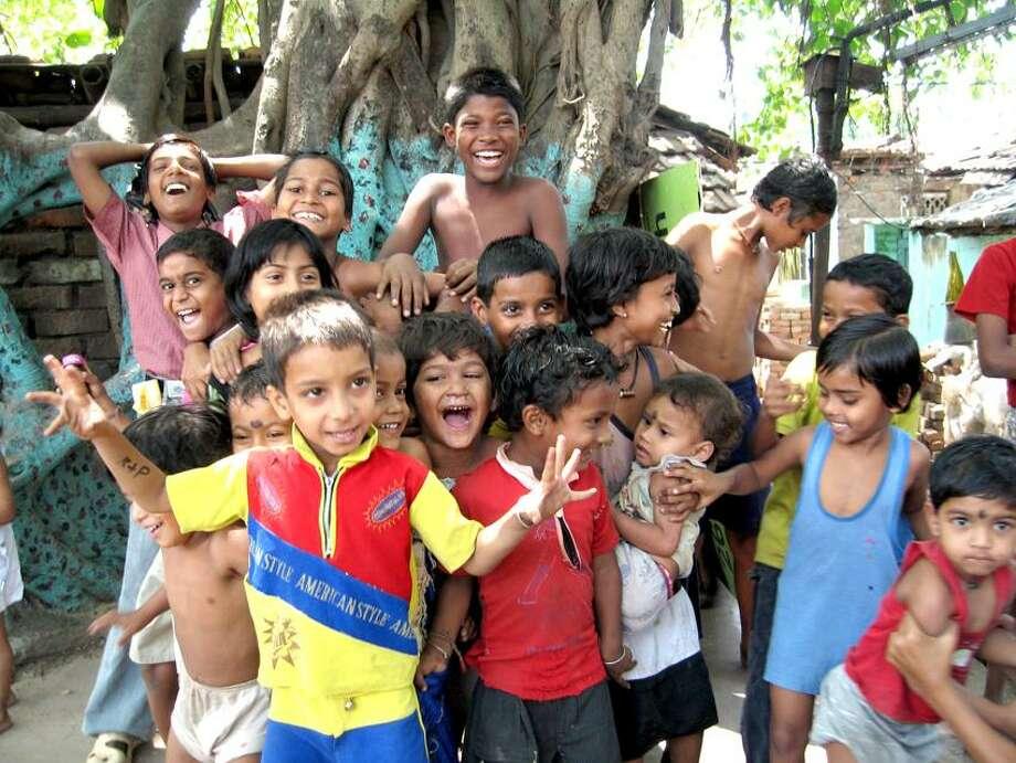 "Wadi Rum Films photo: Children in Kolkata, India, in a ""Happy"" moment."