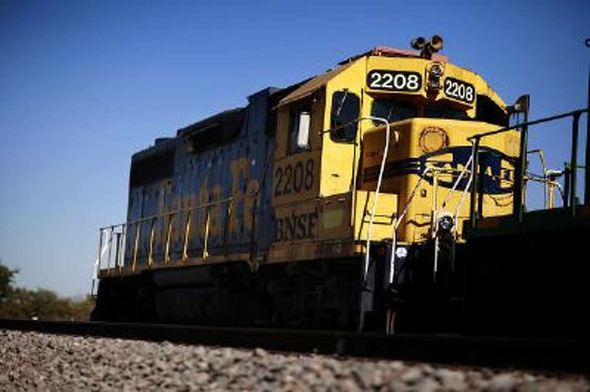 A Burlington Northern Santa Fe Corp. train is shown in a Nov. 3, 2009 file photo.