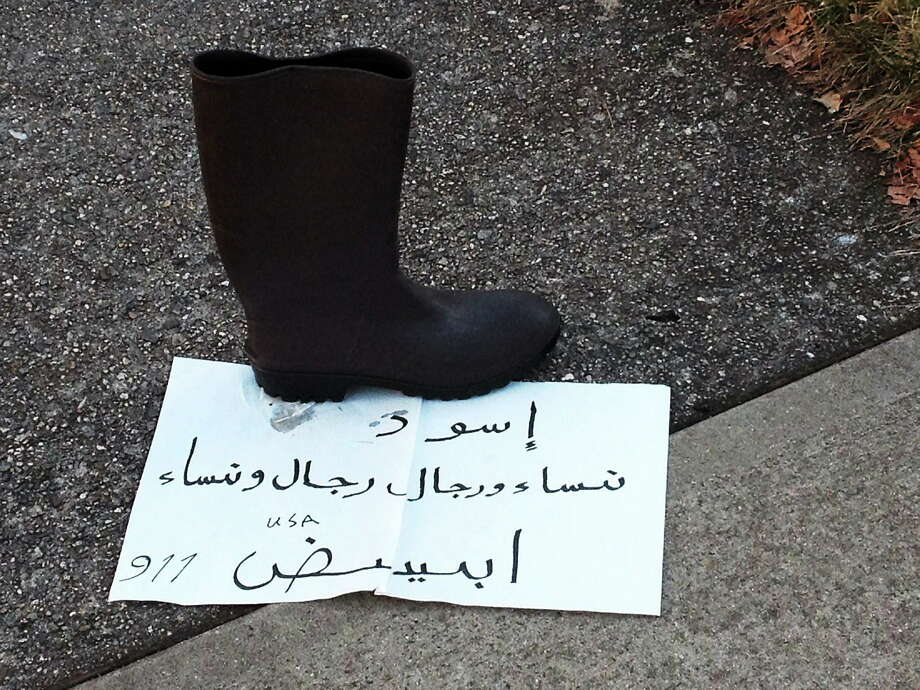 The first incident of a shoe being left occurred on Nov. 30. Photo: SUBMITTED PHOTO