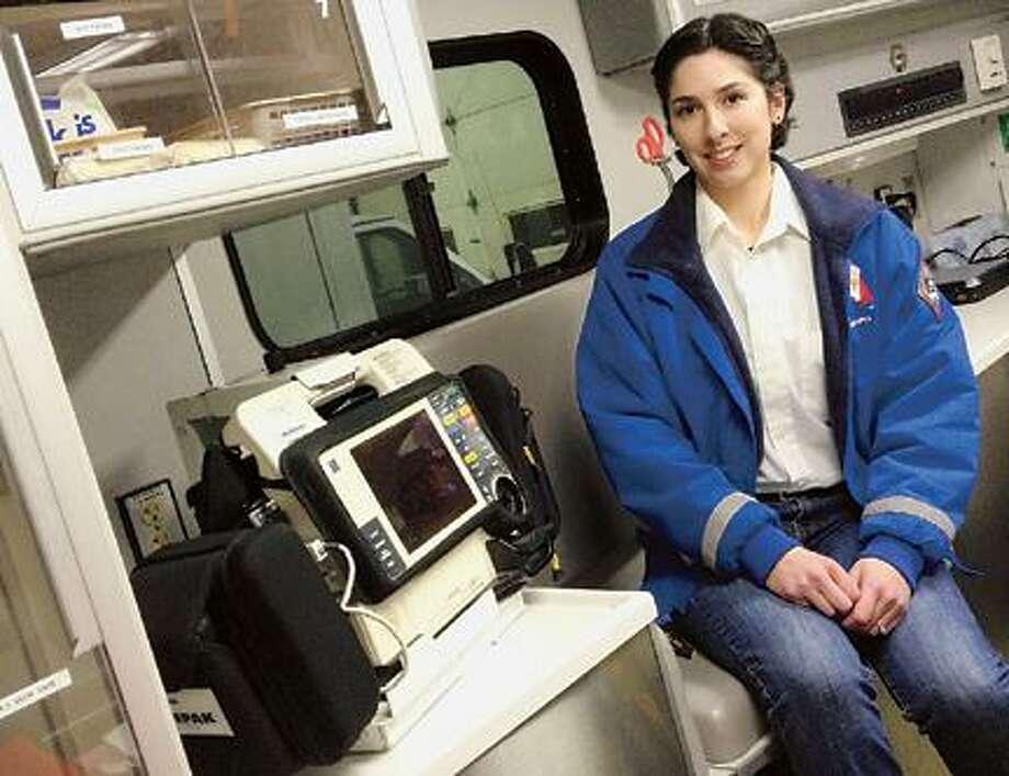 "Dispatch Staff Photo by JOHN HAEGER <a href=""http://twitter.com/oneidaphoto"">twitter.com/oneidaphoto</a> Stephanie Bilzor sits inside a GLAS ambulance."