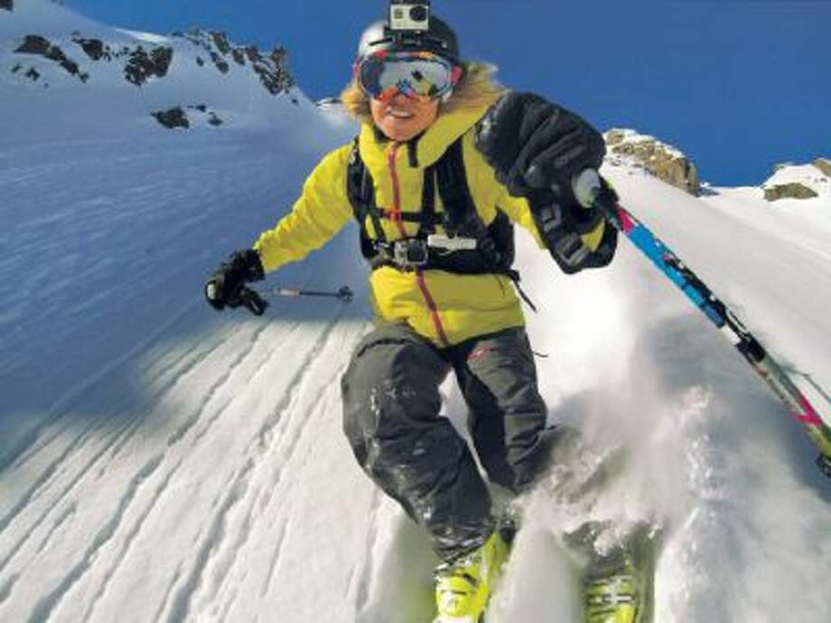 In this an undated file product image released by GoPro shows the GoPro digital camera mounted on a ski helmet, a hot item on ski slope settings.