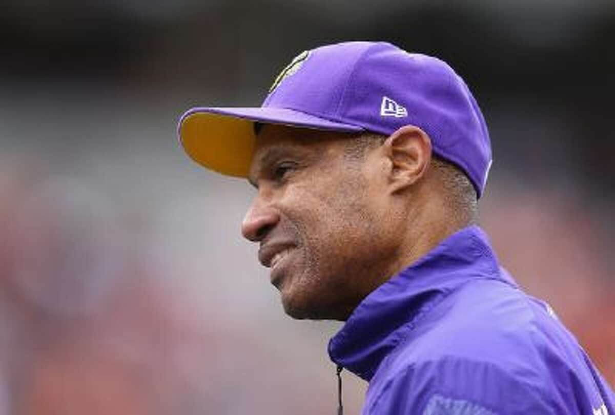 Leslie Frazier, former head coach of the Minnesota Vikings, watches the action during a game against the Cincinnati Bengals at Paul Brown Stadium on Dec. 22, in Cincinnati, Ohio.