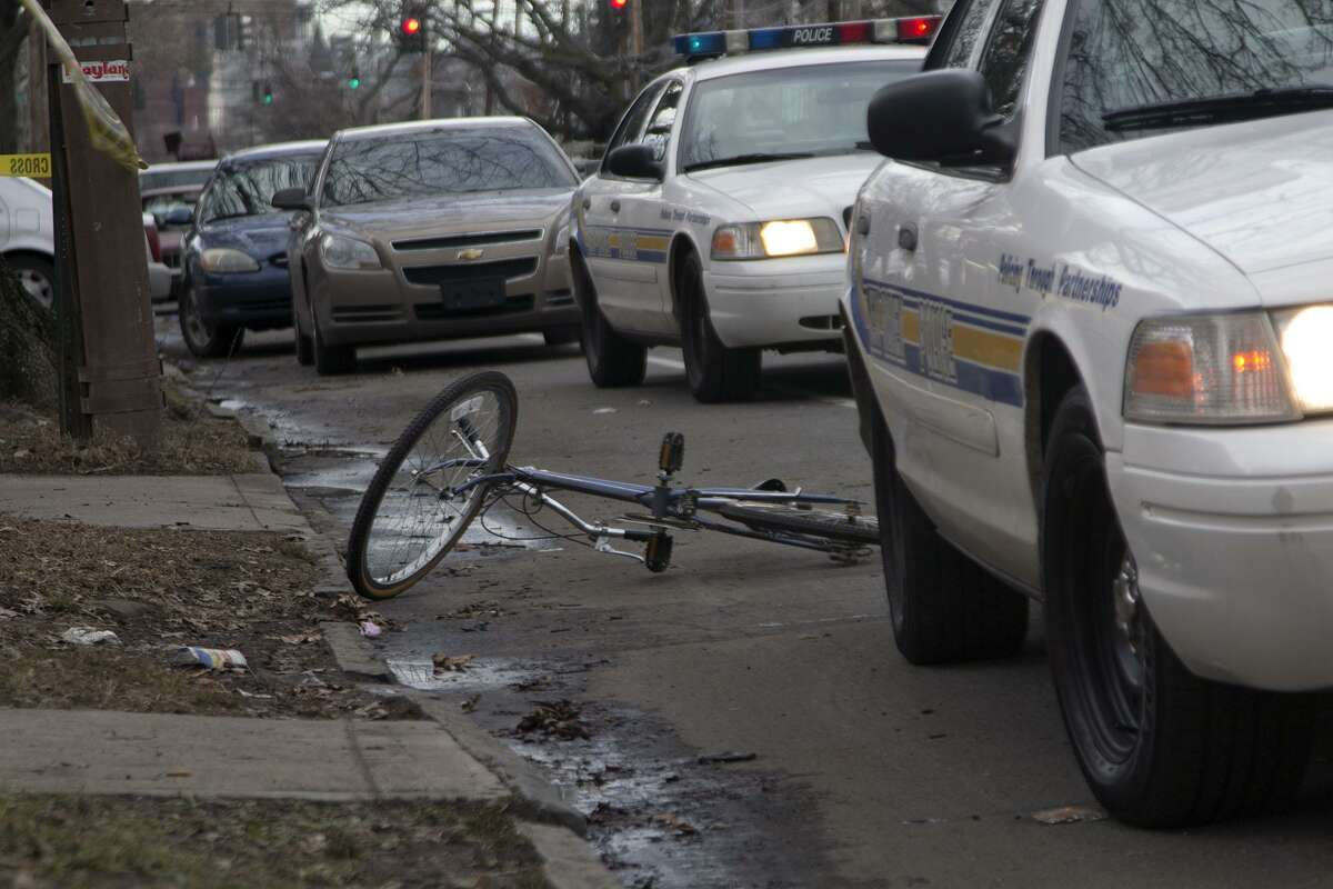 One suspect stole a bicycle after abandoning a getaway vehicle, police said. Photo by Rich Scinto