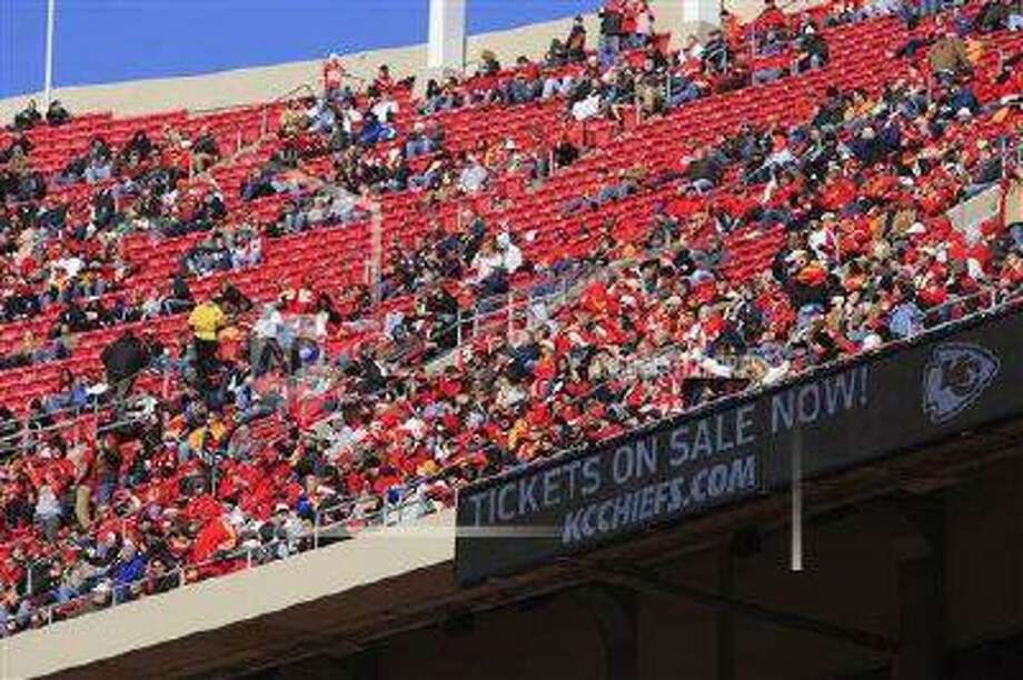 Arrowhead Stadium with empty seats before the start of an NFL football game between the Cleveland Browns and Kansas City Chiefs Sunday, Dec. 20, 2009, in Kansas City, Mo. This was the first blackout game at Arrowhead in 19 years.