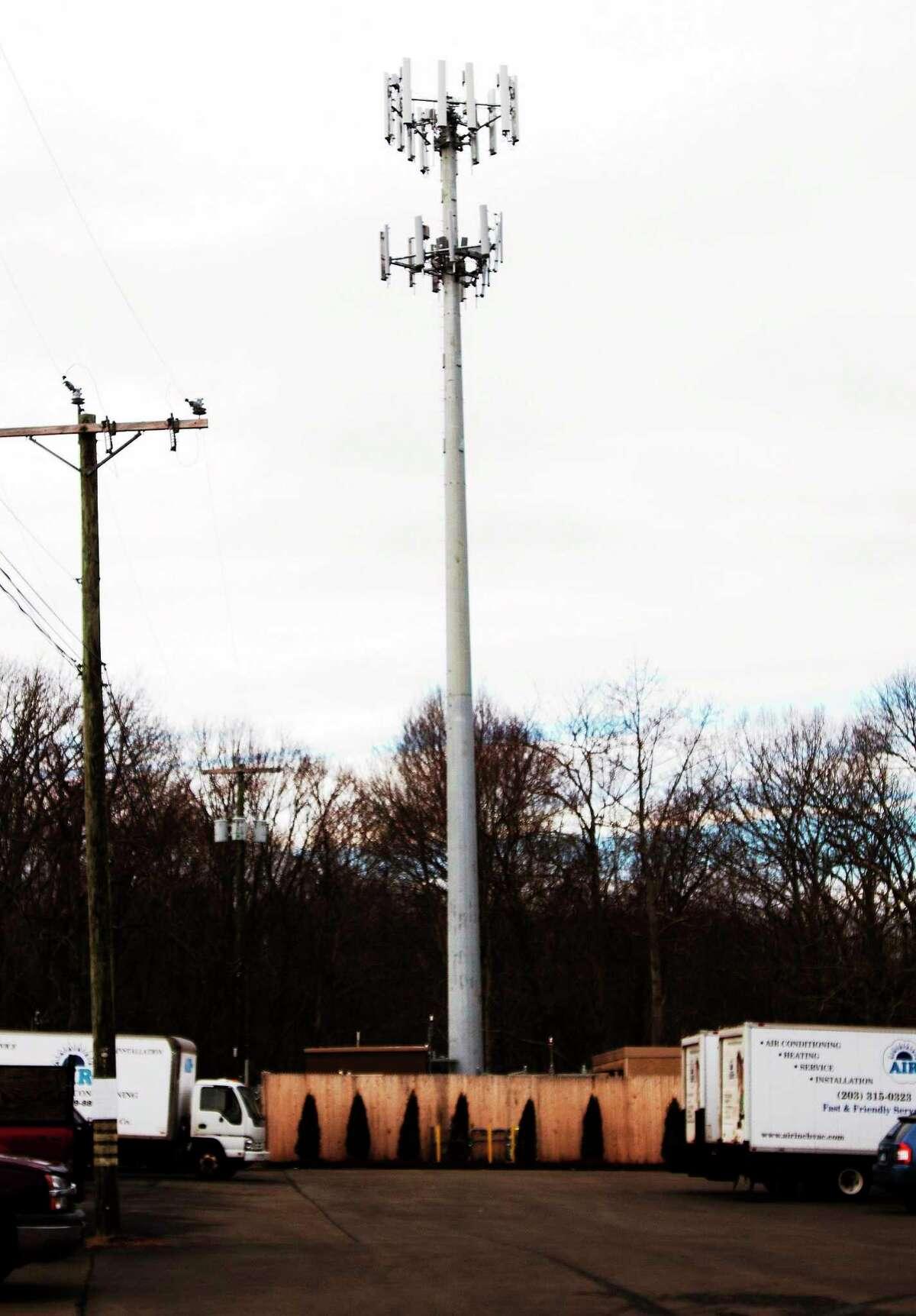 (Melanie Stengel — New Haven Register) Cell phone tower off of Short Beach Road in Branford, 12/30.