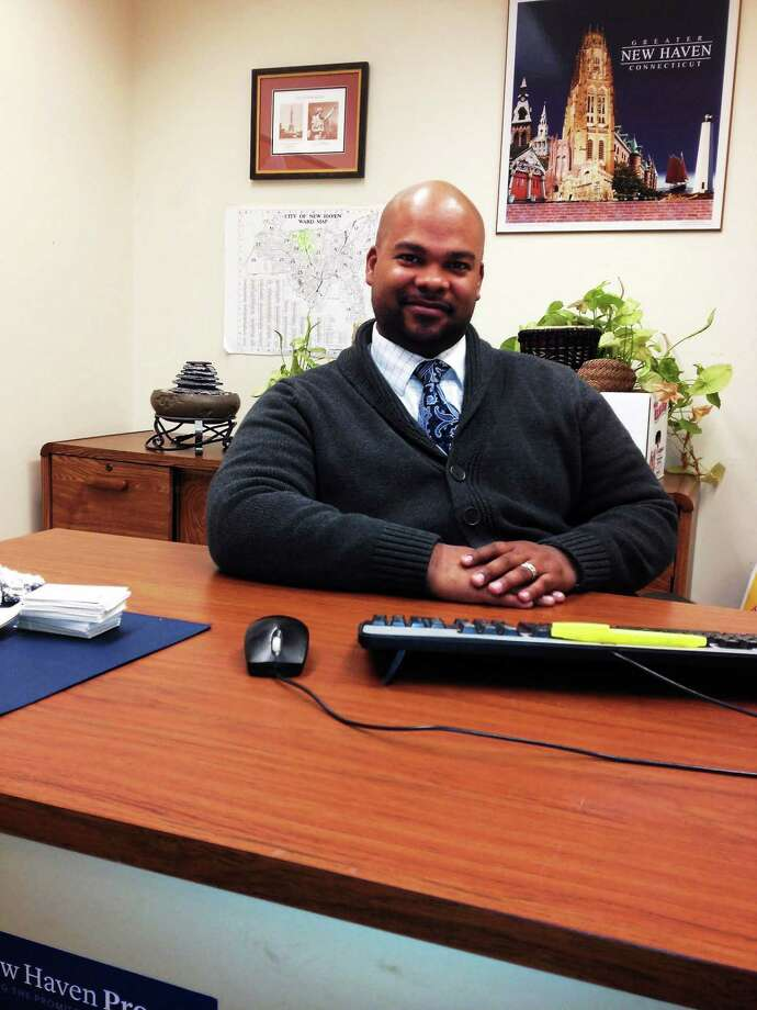 Eric Rey, the current prison re-entry coordinator for the city, talks about his job. Photo by Mary O'Leary Photo: Journal Register Co.
