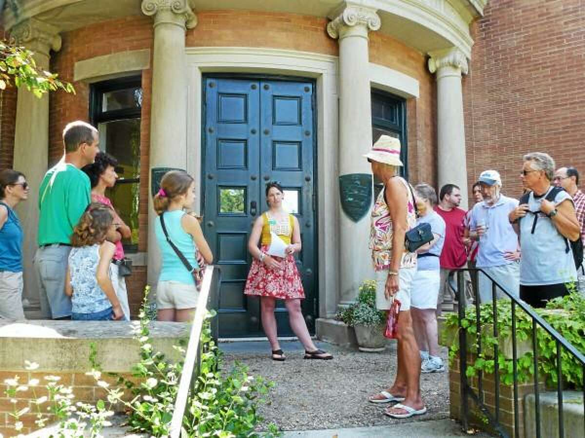 Ryan Flynn--Register Citizen - A historical walking tour which focused on Litchfield's role in the American Revolution began on the steps of the Litchfield History Museum, located on 7 South St. in Litchfield on July 6.