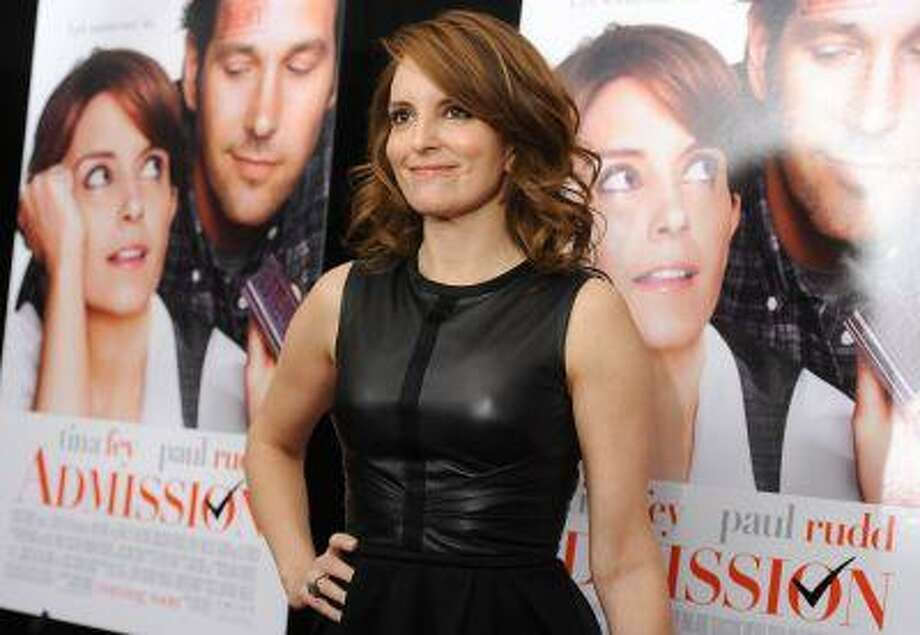 "Actress Tina Fey attends the premiere of ""Admission"" at AMC Loews Lincoln Square on Tuesday March 5, 2013 in New York. (Photo by Evan Agostini/Invision/AP) Photo: Evan Agostini/Invision/AP / Invision2013"