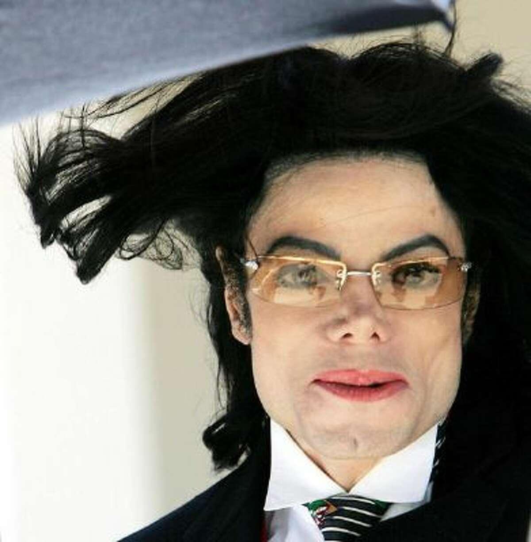 This 29 April 2005 file photo shows US pop singer Michael Jackson he departs the Santa Barbara County courthouse in Santa Maria, California.