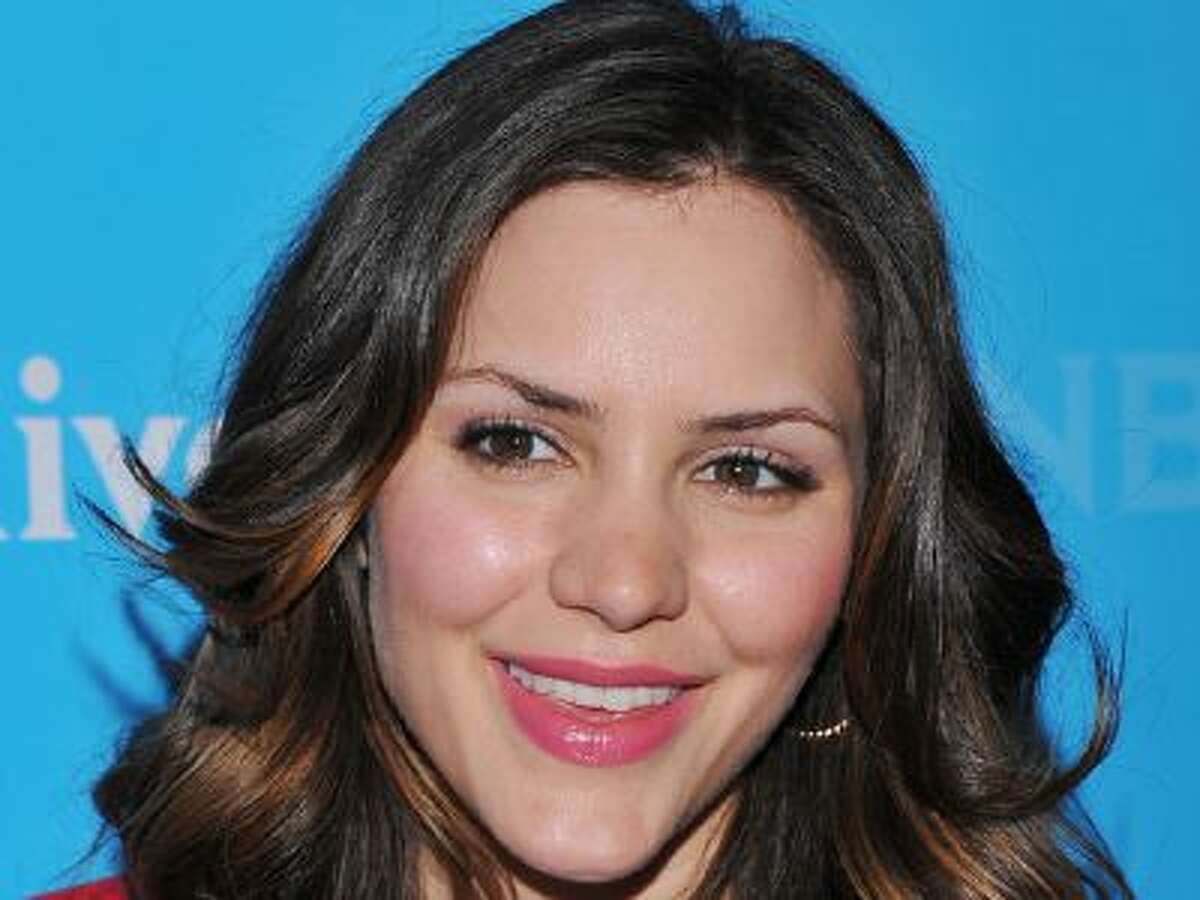 """Actress Katherine McPhee from """"Smash"""" arrives at the 2012 NBC Universal Press Day on Wednesday, April 18, 2012 in Pasadena, Calif."""