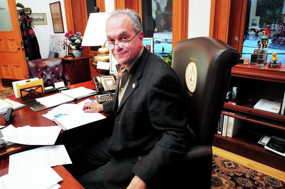 (Arnold Gold ó New Haven Register)  Mayor John DeStefano, Jr., is photographed in his office at City Hall in New Haven on 12/20/2013. Photo: Journal Register Co.