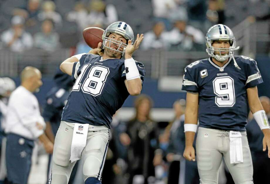Kyle Orton (18) will start at quarterback for the Cowboys in Sunday's showdown with the Eagles as Tony Romo (9) underwent back surgery on Friday. Photo: The Associated Press   / FR168019 AP