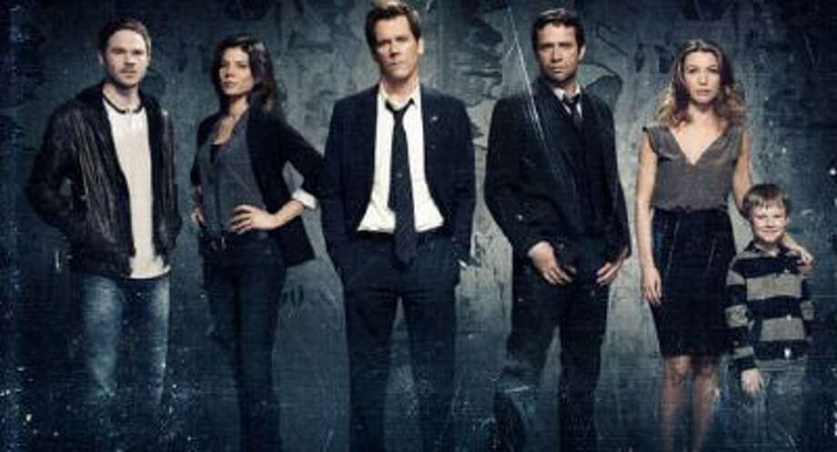 Actors Shawn Ashmore, Jeannane Goossen, Kevin Bacon, James Purefoy, Natalie Zea and Kyle Cattlet on the new drama THE FOLLOWING