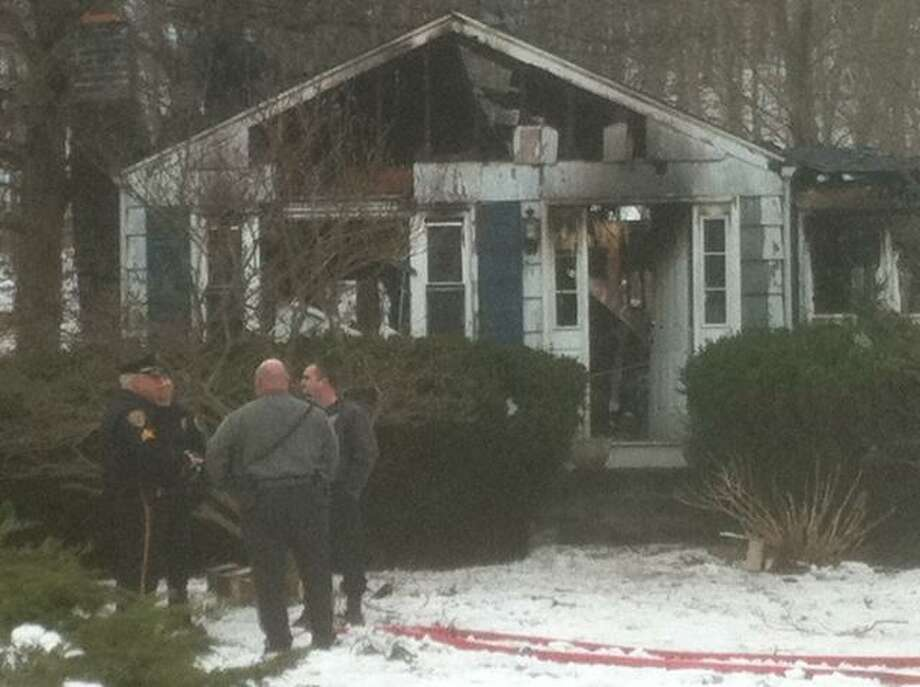 The scene of a fatal house fire Friday morning in North Branford. VM Williams/Register