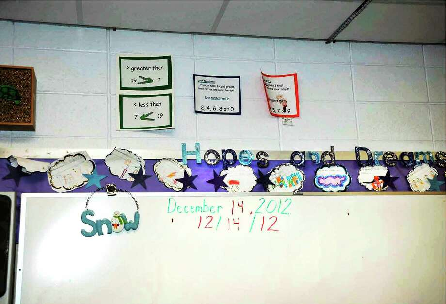 A classroom inside Sandy Hook Elementary School, in photo supplied by the Connecticut State Police. Photo: Journal Register Co.