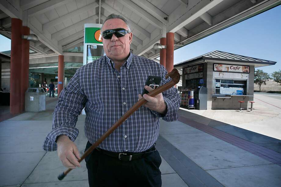 Mike Hohndorf, who has been riding BART for 30 years, at the Concord Bart station on Tuesday, July 25, 2017, in Concord, Calif. Photo: Liz Hafalia, The Chronicle