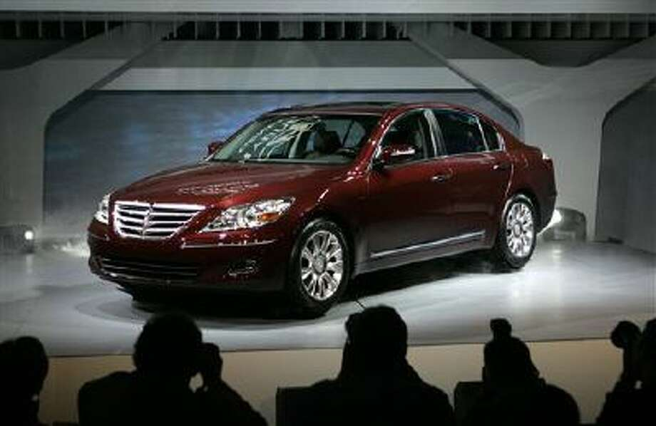 This Jan. 13, 2008, file photo, shows the 2009 Hyundai Genesis at the North American International Auto Show in Detroit. Photo: AP / AP