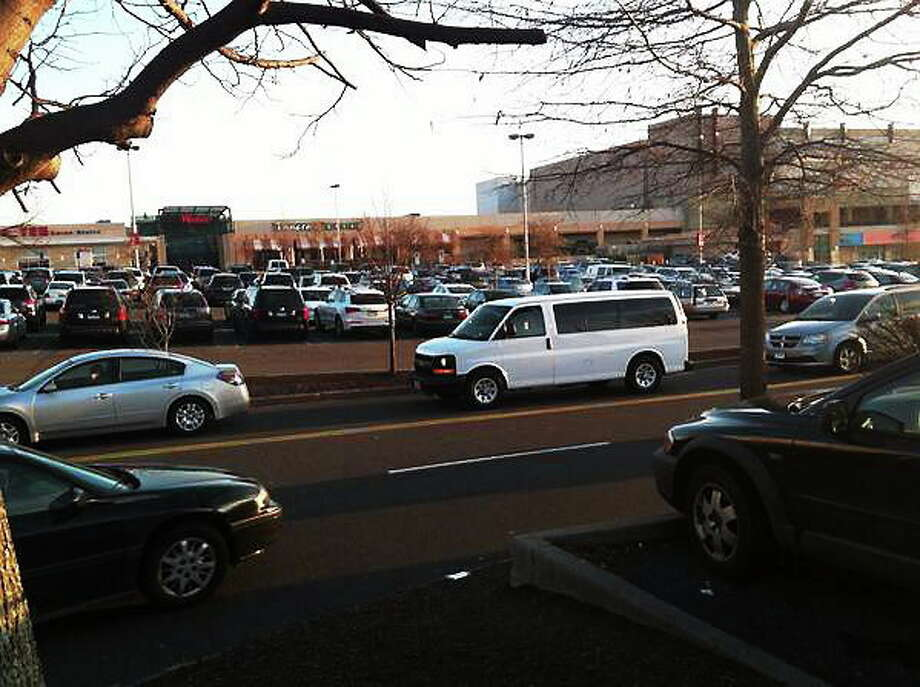 Traffic coming into and out of the Connecticut Post Mall in Milford. Register/Luther Turmelle Photo: Journal Register Co.